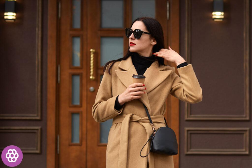 Jaki kolor płaszcza dla brunetek?