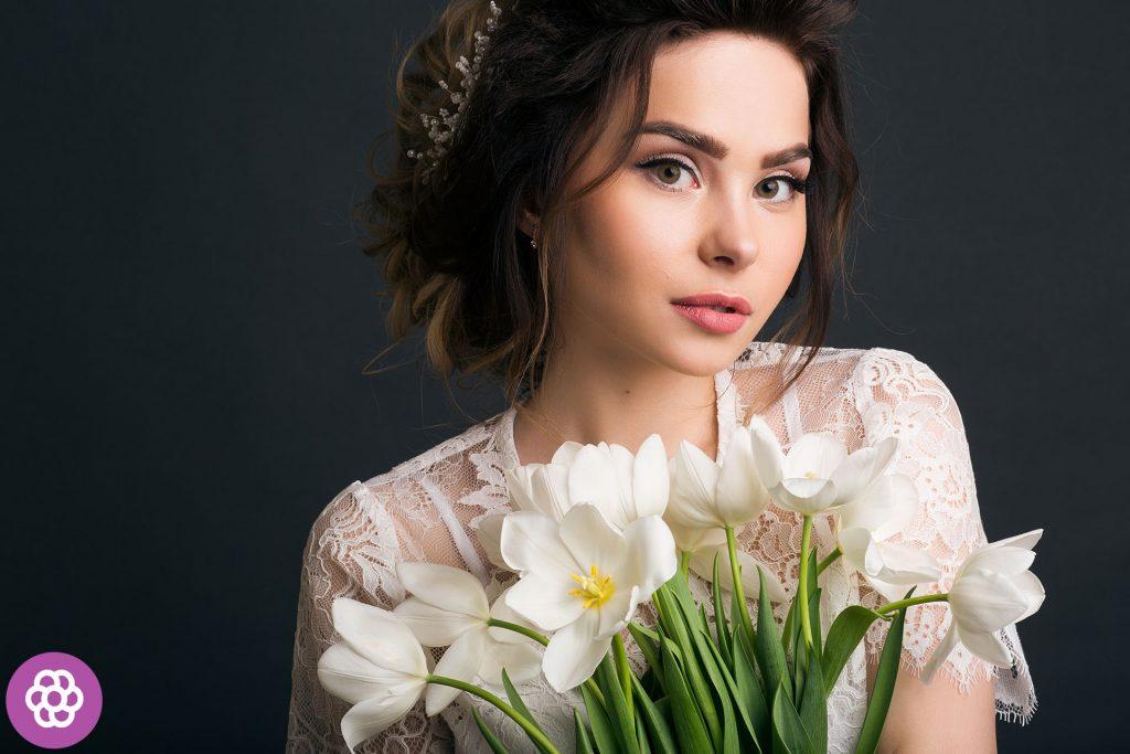 makijaż ślubny dla brunetek o brązowych oczach
