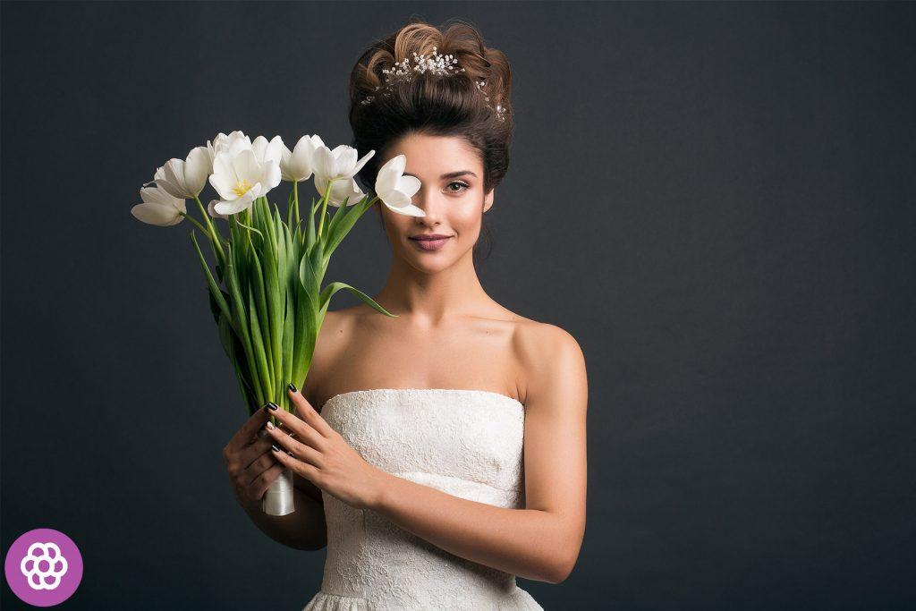makijaż ślubny dla brunetek o zielonych oczach